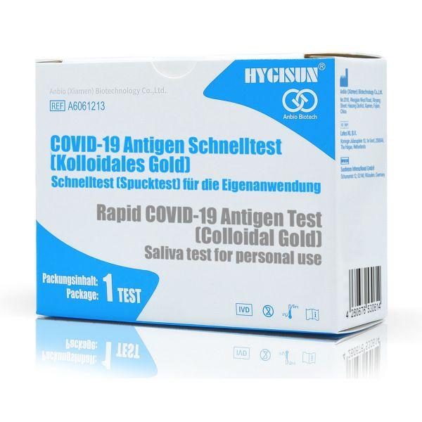 HYGISUN COVID-19 Antigen Laien Spucktest (Teilnehmer-Selbst-Test)