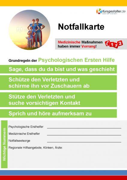 10 Notfallkarten Psychologische Ersten Hilfe