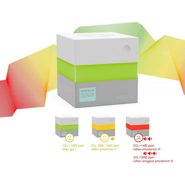 CO2 Luftqualitätsmessgerät Air2Control - Ampelanzeige
