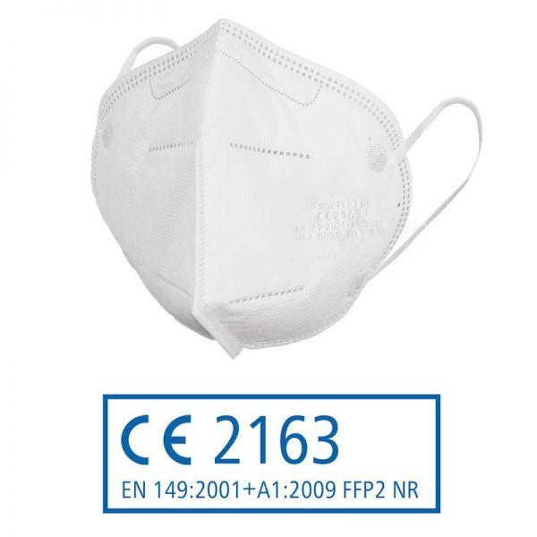 FFP2 Atemschutzmaske mit CE-Kennzeichnung (gefaltet)