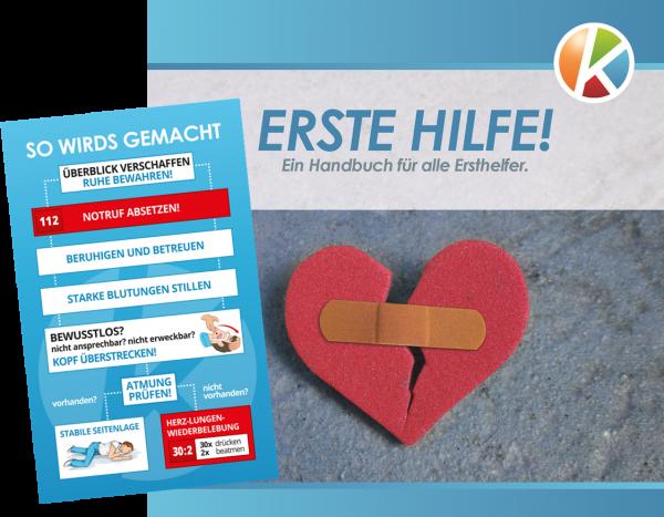 Handout Erste-Hilfe gem. DGUV + ErsthelferCard